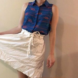 Anthropologie paper bag skirt